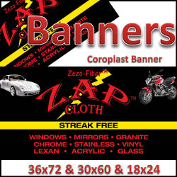 Zap Advertisement Banners and Signs