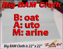 Zap Big Bam Cloth uses Zezo-Fiber Technology to zap streaks