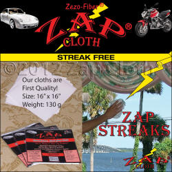 Environmentally Friendly, Streak Free, Zezo-Fiber Zap Cloth